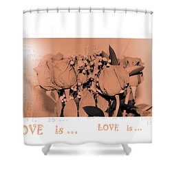 Endless Love. Love Is... Collection 13. Romantic Shower Curtain