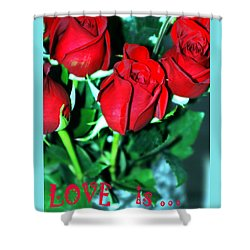 Love Is... Collection. Delightful Shower Curtain