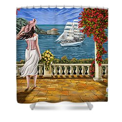 Shower Curtain featuring the painting Love Is Coming Home by Tim Gilliland