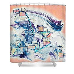 Love Leading The Way Shower Curtain by Asha Carolyn Young