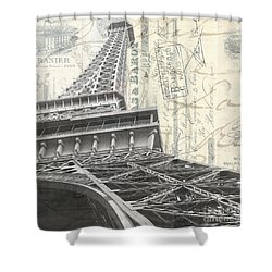 Love Letter From Paris Square Shower Curtain by Edward Fielding