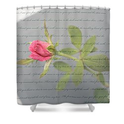 Love Letter Lyrics And Rose Shower Curtain