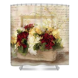 Love Letters Shower Curtain by Colleen Taylor