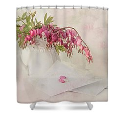 Love Letters Shower Curtain by Robin-Lee Vieira