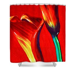 Love Lilies Shower Curtain by Jackie Carpenter