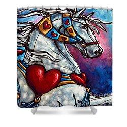 Love Makes The World Go Round Shower Curtain