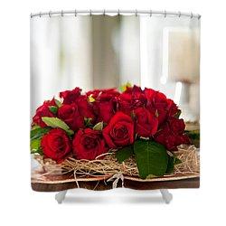 Love Message II Shower Curtain by Jenny Rainbow