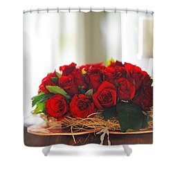 Love Message Shower Curtain