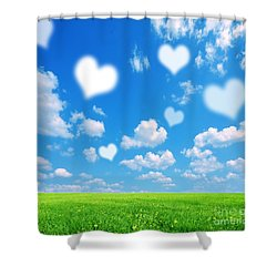 Love Nature Background Shower Curtain by Michal Bednarek