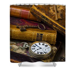 Love Old Books Shower Curtain by Garry Gay