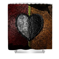 Love On The Line Shower Curtain