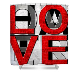 Love Over Hate Shower Curtain
