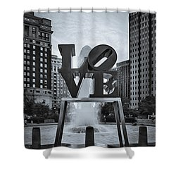 Love Park Bw Shower Curtain