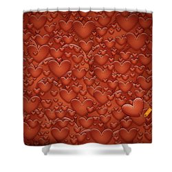 Love Patches Shower Curtain by Gianfranco Weiss