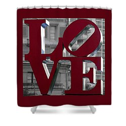 Love Philadelphia Dark Red  Shower Curtain