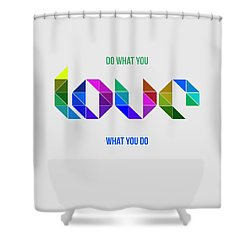 Love Poster 3 Shower Curtain
