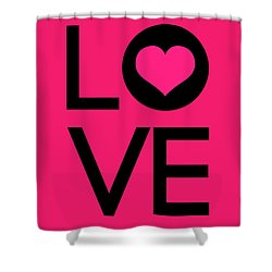 Love Poster 5 Shower Curtain