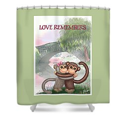 Love Remembers Shower Curtain by Jerry Ruffin