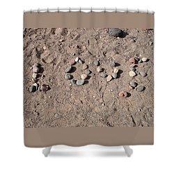 Love Rocks Shower Curtain by Deborah Lacoste