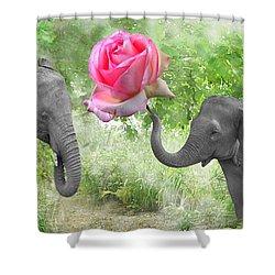 Love-rose Shower Curtain