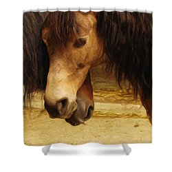 Love Story Shower Curtain by Inspirowl Design