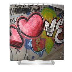 Love. Street Graffiti Shower Curtain by Ausra Huntington nee Paulauskaite
