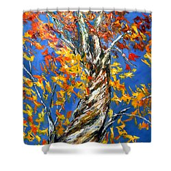 Shower Curtain featuring the painting Love That Reaches by Meaghan Troup