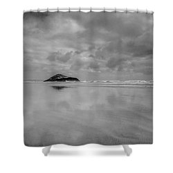 Love The Lovekin Rock At Long Beach Shower Curtain