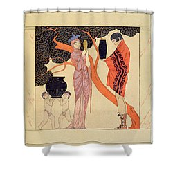 Love Token Shower Curtain by Georges Barbier