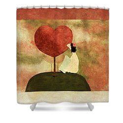 Love Tree -01b Shower Curtain by Variance Collections