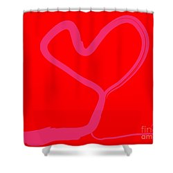 Shower Curtain featuring the painting Love Tree by Go Van Kampen
