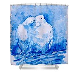 Love  Shower Curtain by Zaira Dzhaubaeva