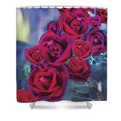 Loveflower Roses Shower Curtain by Alixandra Mullins