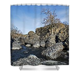 Lovejoy Basalt Formations  Shower Curtain