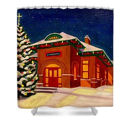 Loveland Depot At Christmas Shower Curtain