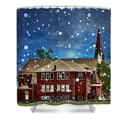 Shower Curtain featuring the photograph Lovely Country Church by Liane Wright
