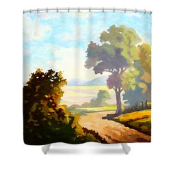 Shower Curtain featuring the painting Lovely Day by Anthony Mwangi