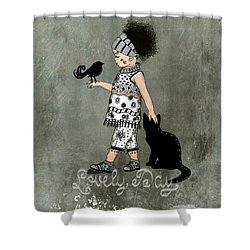 Lovely Day In My Kingdom Shower Curtain by Barbara Orenya