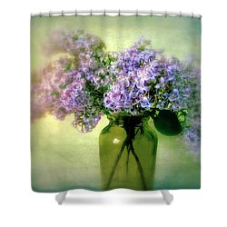 Lovely Lilac  Shower Curtain by Jessica Jenney