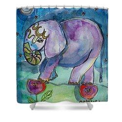 Lovely Little Elephant2 Shower Curtain