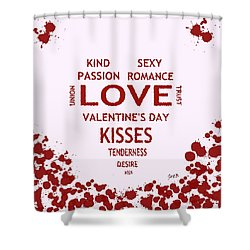Lover To Lover Shower Curtain by Georgeta  Blanaru