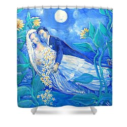 Lovers And Sunflowers  After Marc Chagall  Shower Curtain