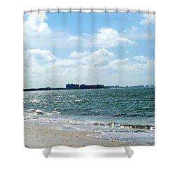Lovers Key Beach Shower Curtain by Oksana Semenchenko