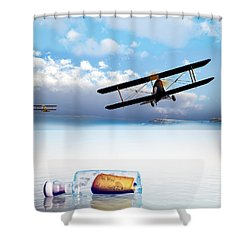 Lovers Lost And Found Shower Curtain by Bob Orsillo