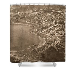 Aerial Of Lovers Point And Pacific Grove California July 10 1906 Shower Curtain