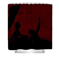 Shower Curtain featuring the photograph Lovers Under The Stars by Sandra Foster