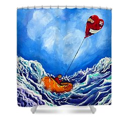 Love's Castaway Shower Curtain by Jackie Carpenter
