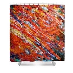 Loves Fire Shower Curtain by Michael Durst