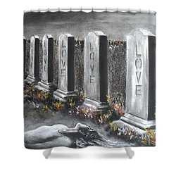 Loves Silent Echoes Shower Curtain by Carla Carson