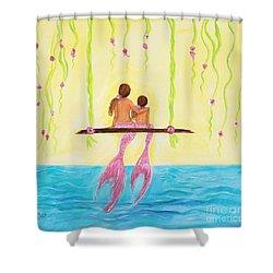 Loving Sunshine Shower Curtain by Leslie Allen